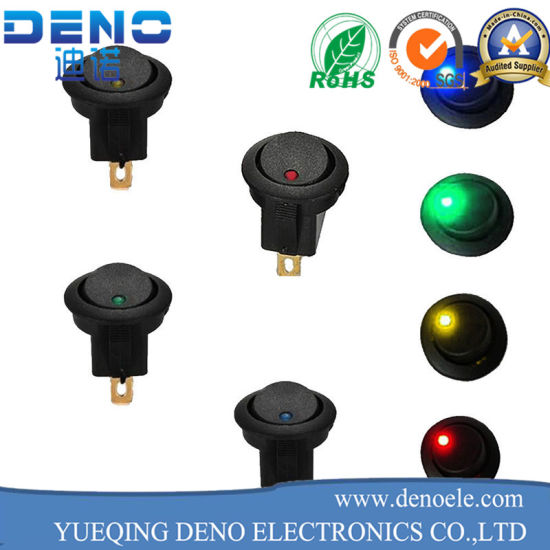 UL VDE Dpdt Momentary Light Rocker Switch pictures & photos
