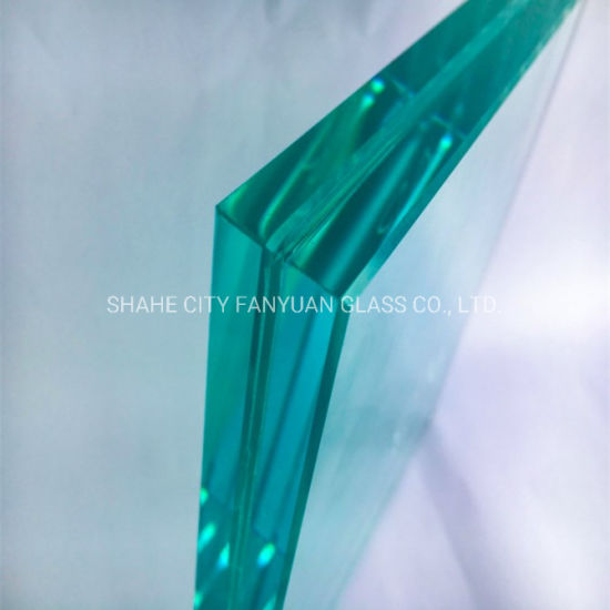 Customized Size 6.38mm PVB Interlayer Tempered Sandwich Laminated Glass Showcase