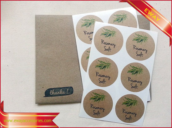 Round Printed Paper Sticker Gift Packing Seal Sticker pictures & photos