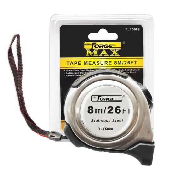 8m Auto Lock Steel Tape Measure with Nylon Coated Dual Blade pictures & photos