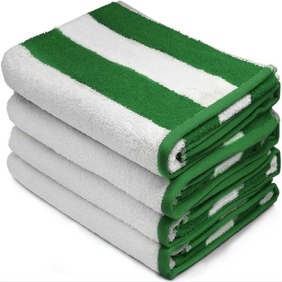 China Large Beach Towel Pool Towels In Cabana Stripe Cotton