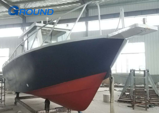 7 8m Outboard Cabin Aluminum Boat For Saltwater Fishing