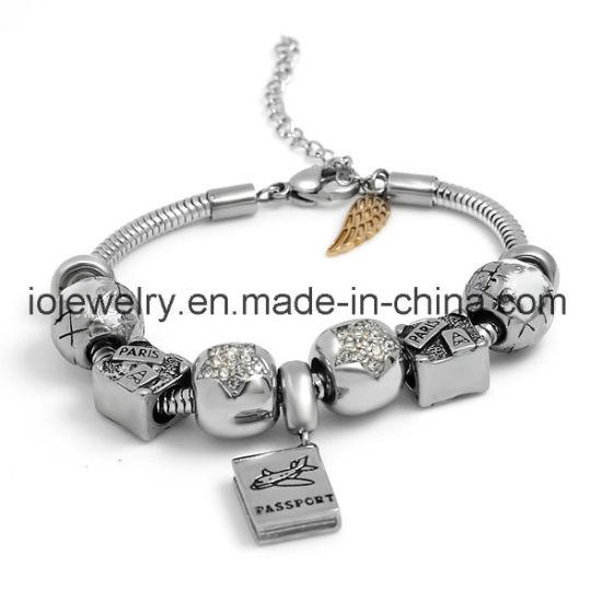 Fashion European DIY Stainless Steel Bead Bracelet