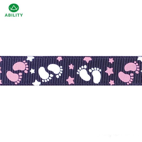 Hot Selling Popular Printed Polyester Christmas Various Festival Grosgrain Ribbon