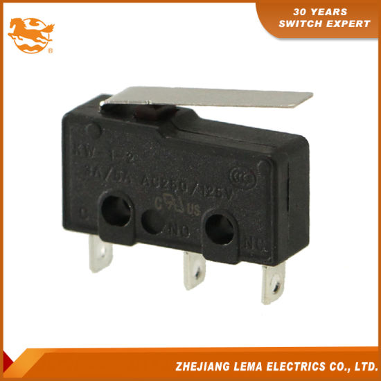 Kw12-1 Sub-Mini 5A Button-Actuated Miniature Snap-Action Micro Switch
