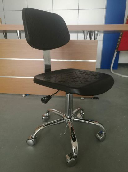 Antislip PU Leather Industrial ESD Chair pictures & photos