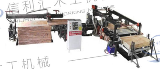 High Precision Plywood Automatic Four Edge Trimming Saw Size Adjustable Trimming Cutting Saw Machine