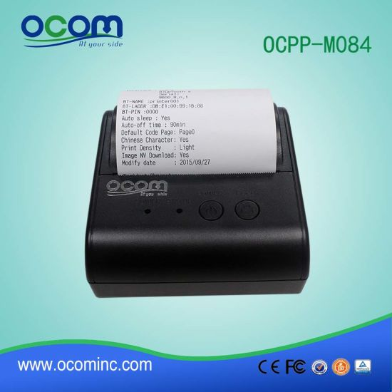 80mm Mini Handheld Thermal Portable Ticket Printer for POS