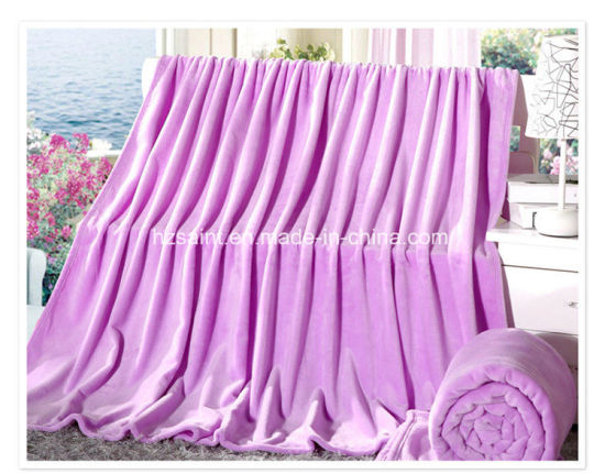 China Supplier Wholesale Super Soft Flannel Fleece Blanket pictures & photos