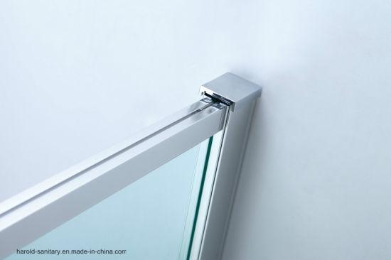 Extended Length Pivot Hinge 6mm Glass Semi Framed Shower Door