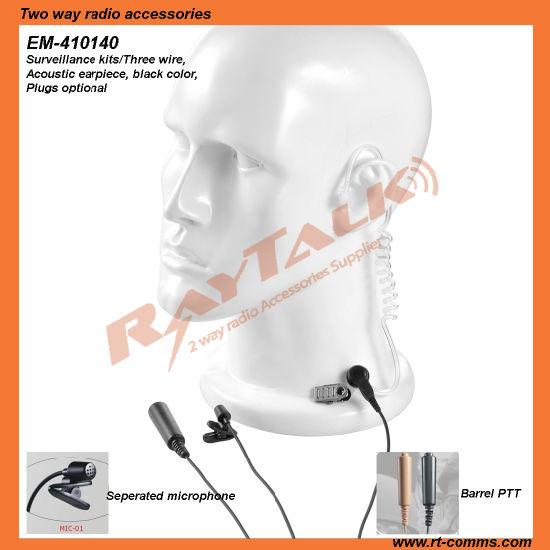 walkie talkie 3 wires surveillance earpiece for kenwood  tk220/tk240/tk248/tk270 pictures