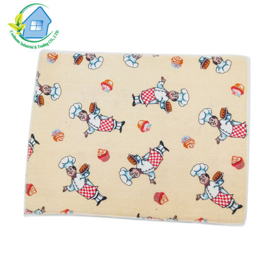 New Style Cartoon Pattern Microfiber Dish Drying Mats for Kitchen Pads for Dish Absorbent