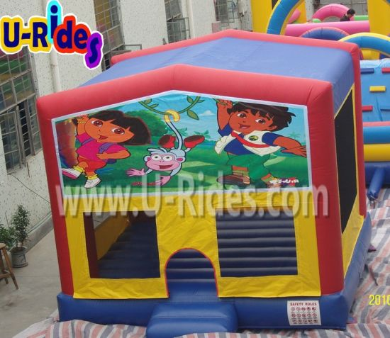 Dora Cheap Inflatable Toys Air Jumping Castle Inflatable Bouncer for Sale pictures & photos