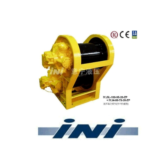 Ini Invention Patent Hydraulic Double Drum Pipe Layer Winch