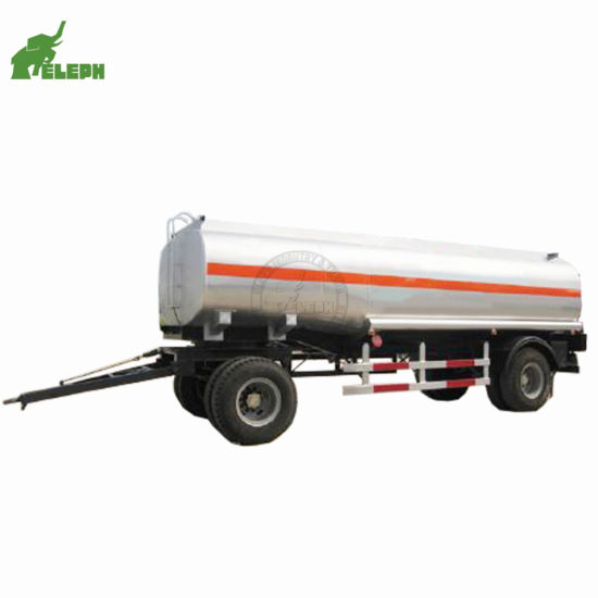 2 Axle 25 Cbm Liquid Storage Transport Tank Trailer Fuel Tanker