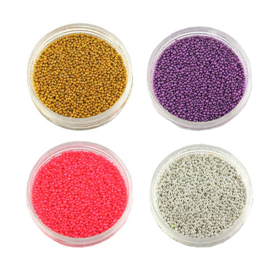 China Nail Arts Colorful Golden Silver Caviar Nail Beads Nail