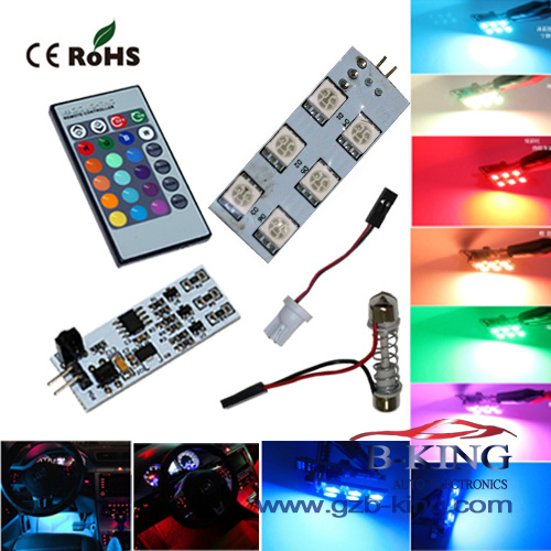 Wireless Remote Control Rgb Car 5050smd Led Domelight Pictures Photos