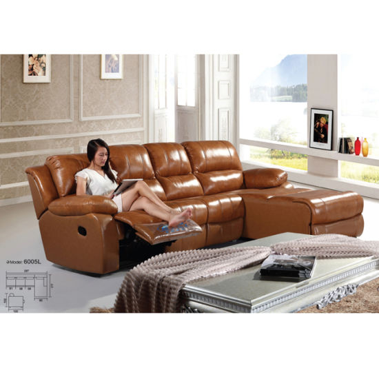 China Yellow Leather Recliner Sofa Best Recliner Sofa 6005l China