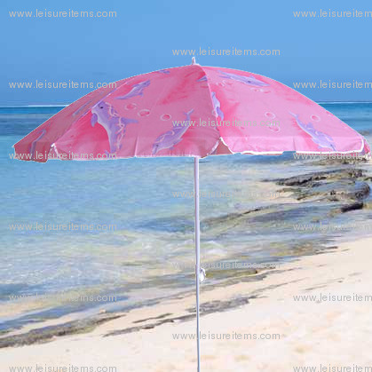 Nylon Beach Umbrella with Assorted Design (OCT-BUN15)