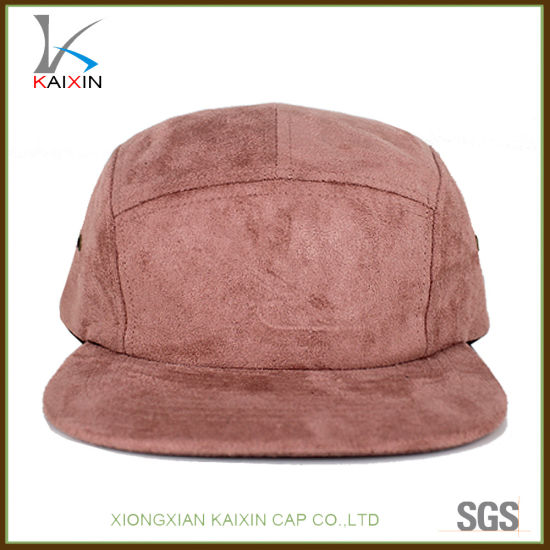4cd0296562033 China Custom Plain Blank Suede 5 Panel Cap and Hat Camp - China 5 ...