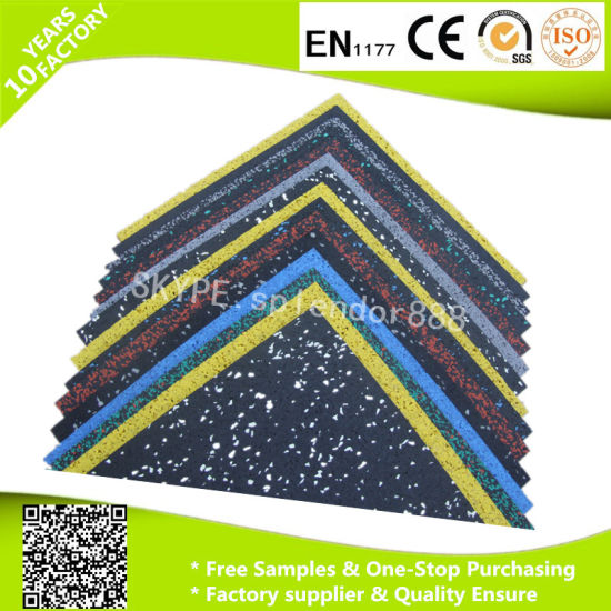 Good Protective Puzzle Floor Tiles, Interlocking Rubber Mats for Gym pictures & photos