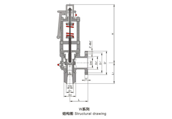 w series spring full bore type steam air gas pressure safety valve pictures  & photos