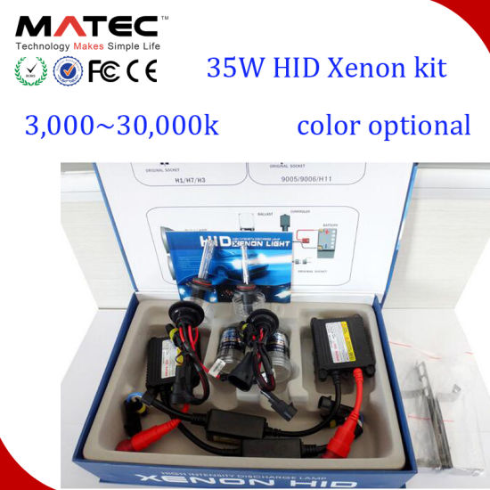 Smart 35W/55W Slim Ballast H5 H7 H4 H13 H11 9005 9006 Canbus HID Bi Xenon Kit pictures & photos