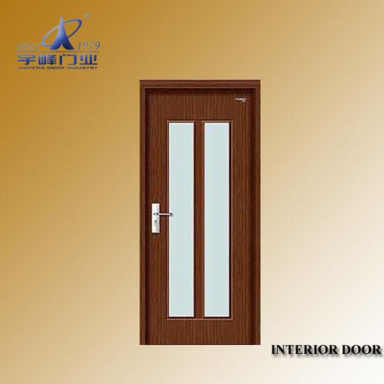 Interior Wooden Coloured Glass Doors China Wooden Door Melamine