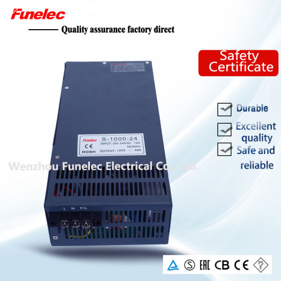 China S-1000-24 1000W Constant Voltage SMPS AC DC 24V Switching ...
