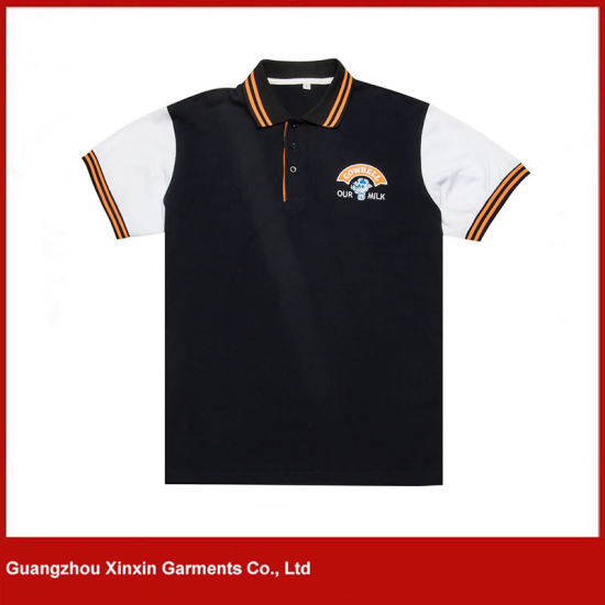 China Latest Design Thick Pique Cotton Polo T Shirts Maker P106