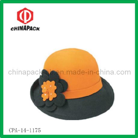Fashion Wool Felt Bucket Hat with Flower (CPA-14-1175)