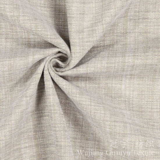 Soft Linen 100 Polyester Upholstery Fabric For Decoration