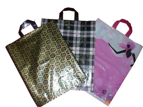HDPE Four Color Printed Carrier Bags for Garment (FLL-8347)