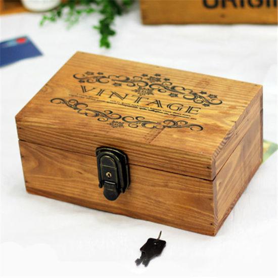 Promotional Jewel Case, Wood Box with Printing Burn Logo