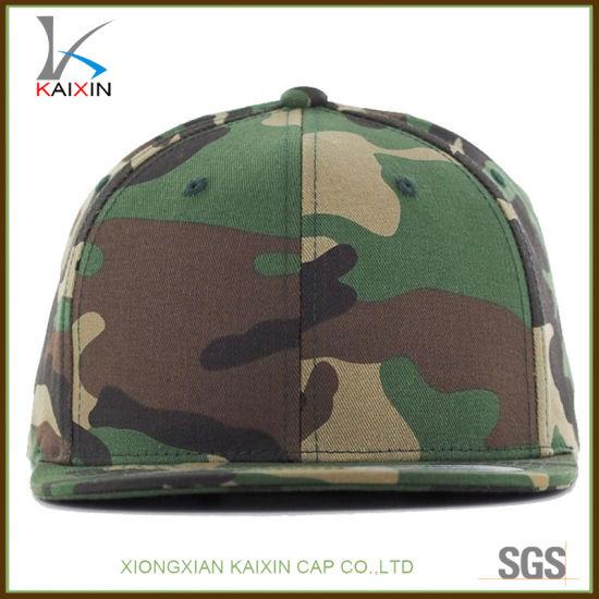 China Custom Design Logo Plain Blank Camo Snapback Cap - China ... 48d4c60214e