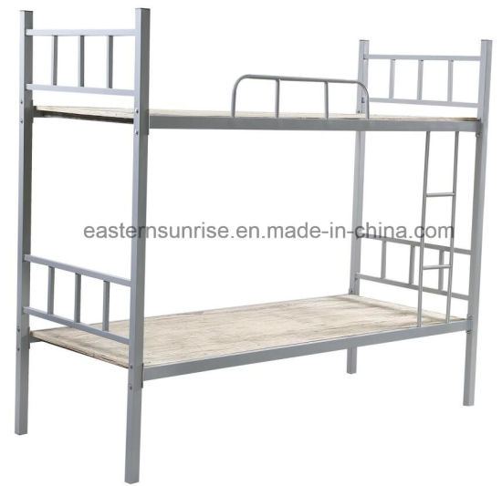China Furniture Metal Pipe Double Beds Steel Metal Bed China