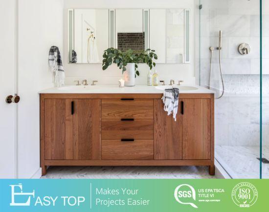 China Floor Mounted Modern Solid Wood, All Wood Bathroom Vanities