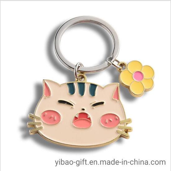 Hot Selling Zinc Alloy Enamel Custom Cute Animal Metal Key Chain for Promotional Gifts (YB-MK-5)