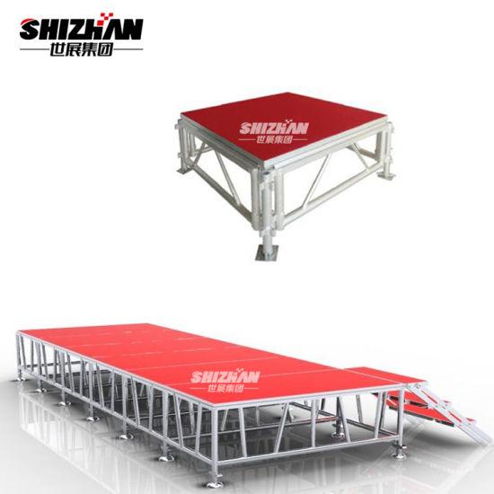 Portable DJ Stage Outdoor Aluminum Platform Adjustable Height Stage