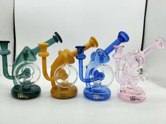 Hbking Recycler Percolator Glass Water Pipe DAB Rig Waterpipe Glass Water Pipe Smoke Pipes Rig