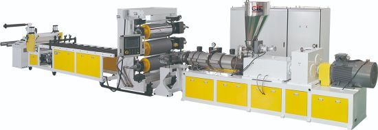 Plastic PVC Window Decking Profile/Ceiling/ Door Board/Wall Panel/Edge Banding/Sheet Extrusion Extruding Machine Production Line