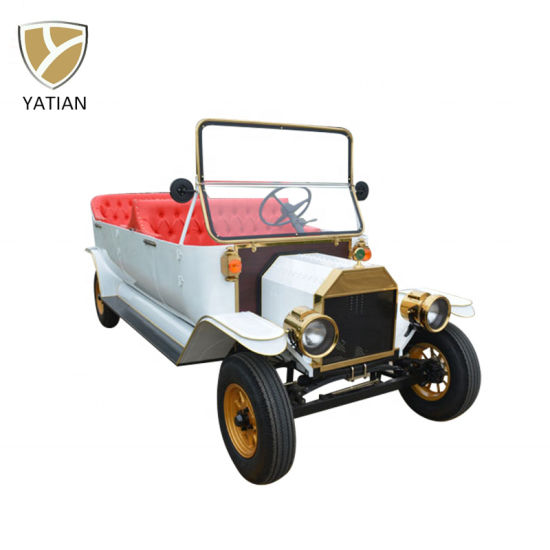 Scenic Classic Car Tours 8 Seater Electric Sightseeing Car for Tourists Transportation