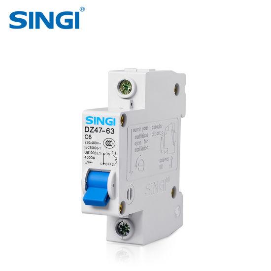 OEM Dz47-63 220/400V 1~4pole 1~63A Mini Circuit Breaker MCB