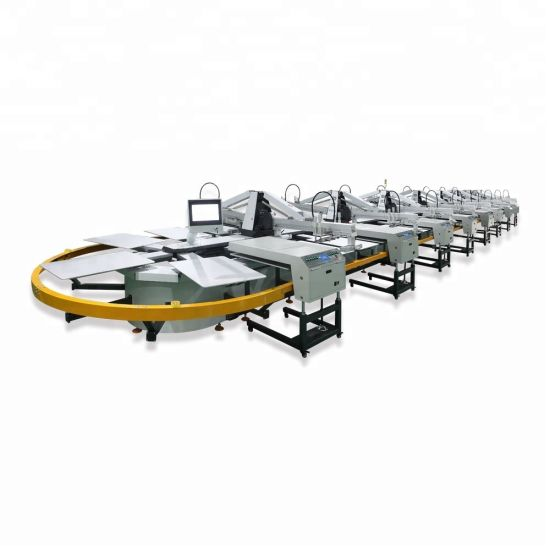 Oval Screen Printing Machine for T-Shirt & Textile pictures & photos