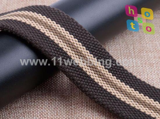 High Quality Stripes Cotton Strap Webbing for Belt