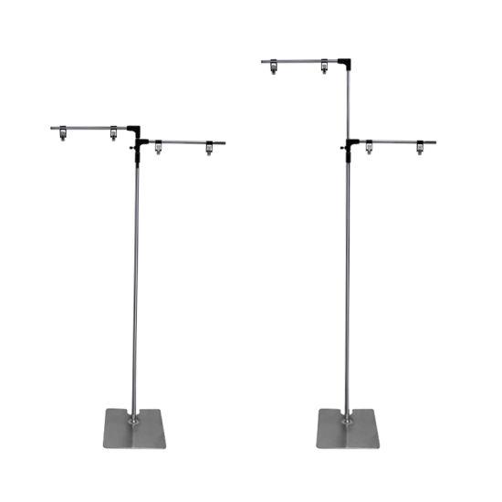 Advertising Metal Floor Standing Poster Display Hook Stand