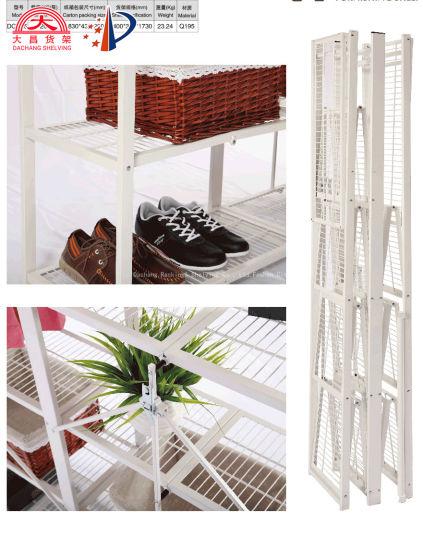 Folding Wire Storage Display Bookshelf for Bedroom