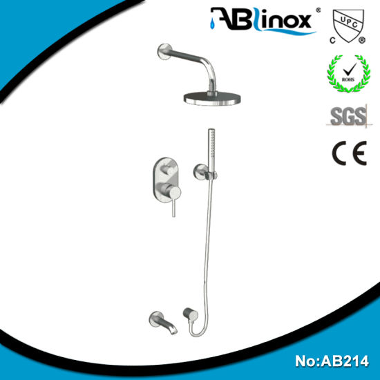 Stainless Steel Three Functions Hide in The Wall Head Shower AB214 pictures & photos