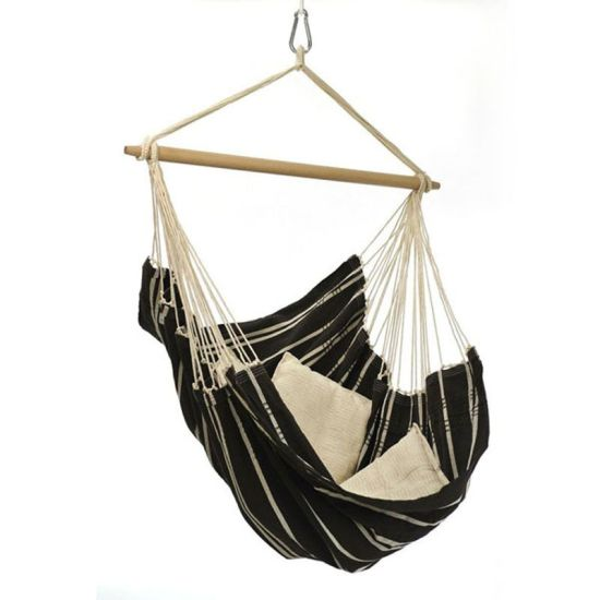China Outdoor Indoor Hammock Chair Macrame Swing With Pillows 265