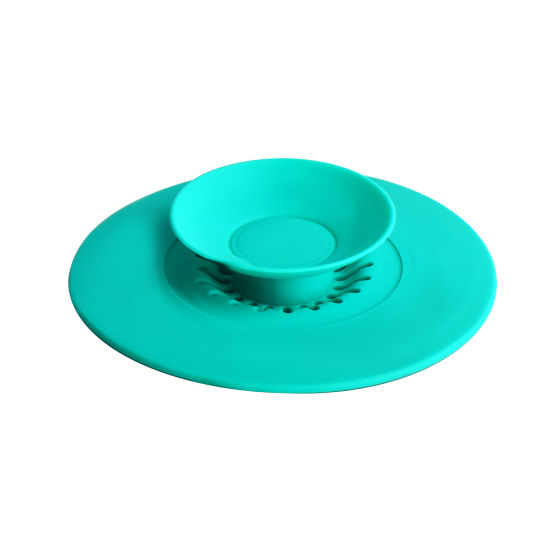 Kitchenware OEM Bathroom Floor Drain Cover Plug 100%Silicone Durable Sink Shower Filter Silicone Kitchen Strainer